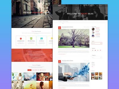 Polmo Creative  multi purpose responsive minimal webdesign clean ui web