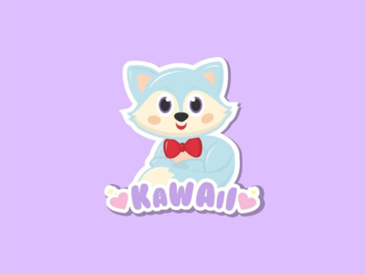 Kawaii Fox cutelogo cutedesign