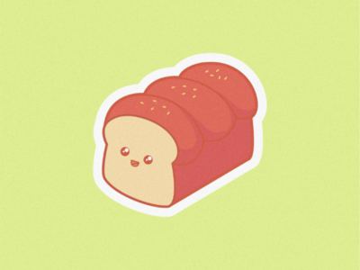 Cute Bread bread cutelogo cutedesign