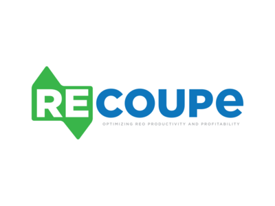 Recoupe house home real estate logo