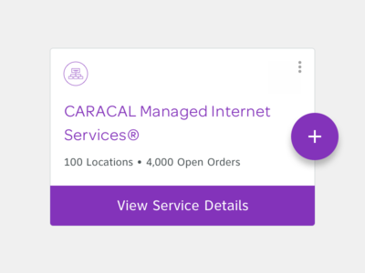 CARACAL - Add a service mobile web card app material design