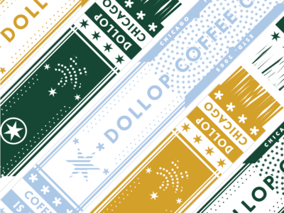 Dollop Coffee Co. Scarf merch dollop woven stars chicago patterns weaving scarf coffee