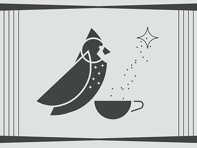 Drinking Bird Exploratory Mark abstract mark coffee illustration bird