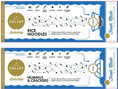 Dollop Bakeshop Packaging bakery branding illustration dollop cafe chicago