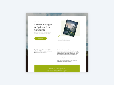 Landing Pages by ConvertKit landing page ui newsletter web design minimal animation brand product saas