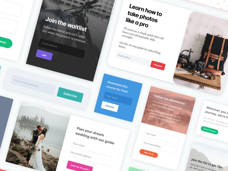 Email subscription forms wip mockup blog form web minimal product design ux design ui