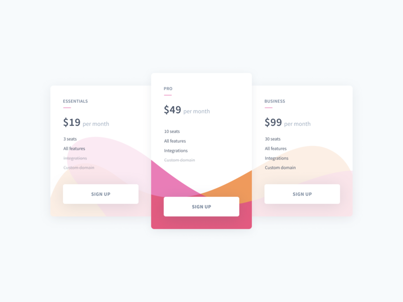 SaaS pricing table marketing site marketing pricing pricing table clean interface pricing plans web design responsive web ui design minimal