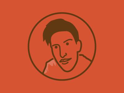 ICON-drés icon profile red brown self portrait illustration illustrator mark