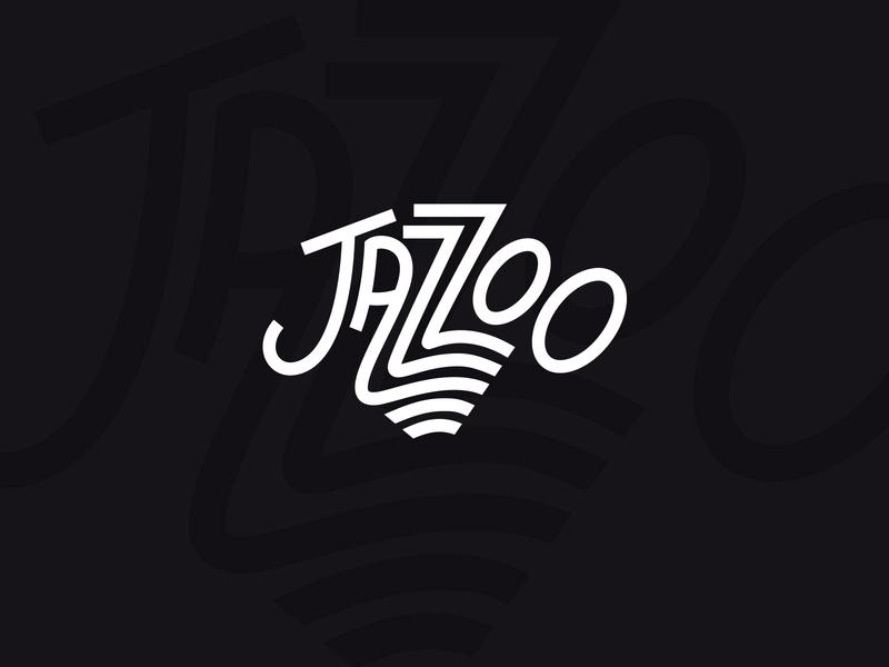 Jazzoo Concept black and white typography branding design logo type zoo jazz