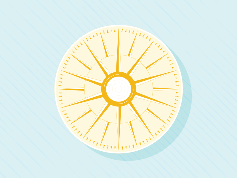 💡☀️💡 triangle circle lines old gold inspiration compass dial sun ceiling fixture light vector illustration design