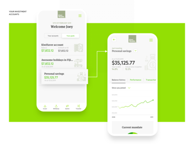 Investment banking web app