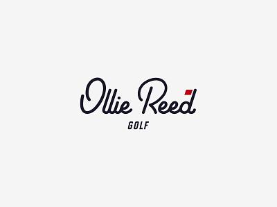 Ollie Reed Golf cursive logo logo golfer golfing golf