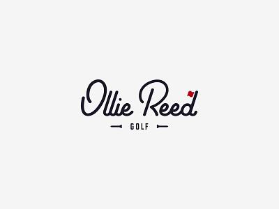 Ollie Reed Golf brand design brand logos golfer golfing logo golf design