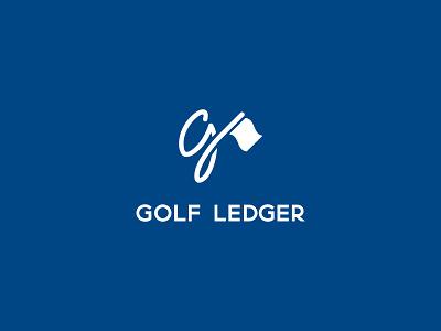 Golf Ledger design logo golfing golfer golf