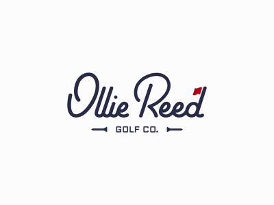 Ollie Reed Golf logotype logo design logodesign logo golf club golfing golf logo golf ball golfer golf
