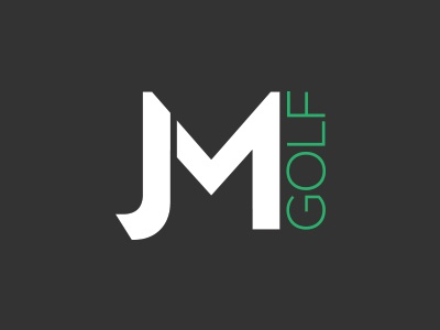 JM Golf design identity brand logo golf