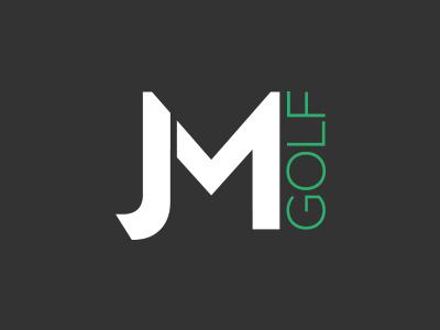 JM Golf design identity brand logo golf