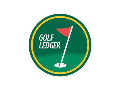 Golf Ledger social media identity branding identity design branding design branding brand design design golf ball golfing golfer golf