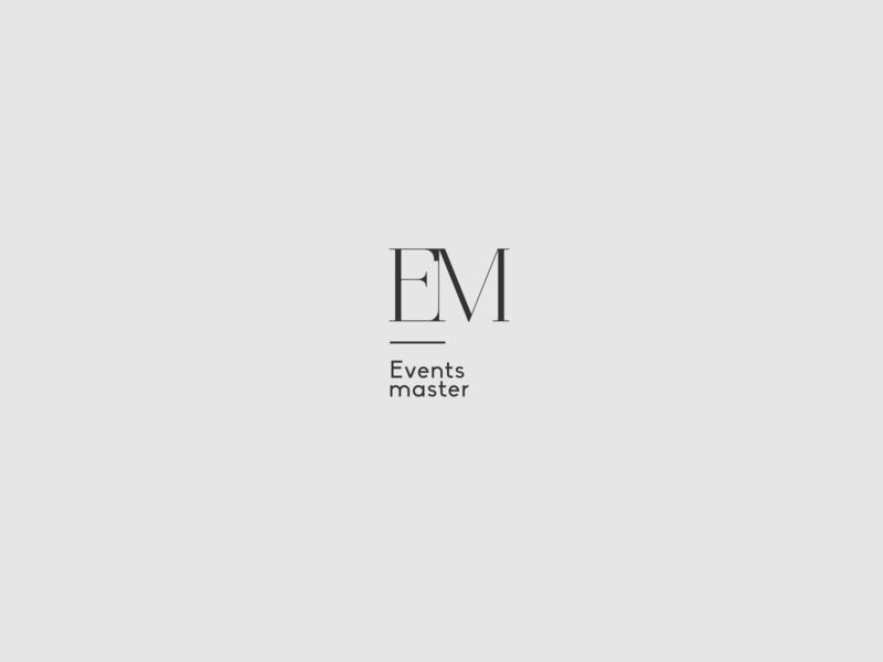 Events master logotype for event rentals & decoration monogram logotype logos logo logomark logotype designer logo design logodesign graphicdesign minimal clean branding