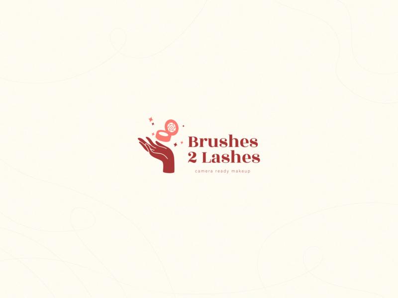 Unused Logo Concept Brushes 2 Lashes logomark logos logodesign logotype logotype designer logo design graphicdesign minimal clean branding