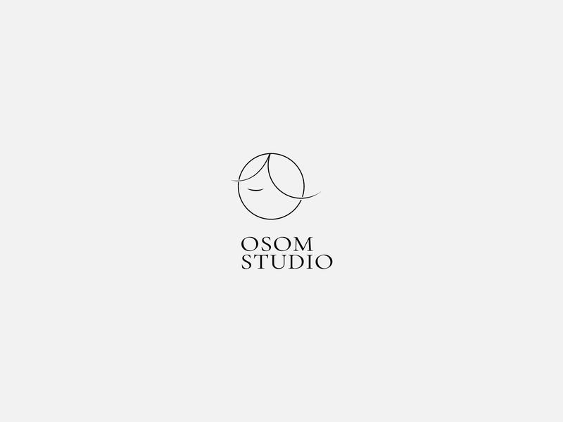 Logotype design for Osom Hair Studio logomark logotype design logo design logos logotype designer logotype logodesign graphicdesign minimal clean branding