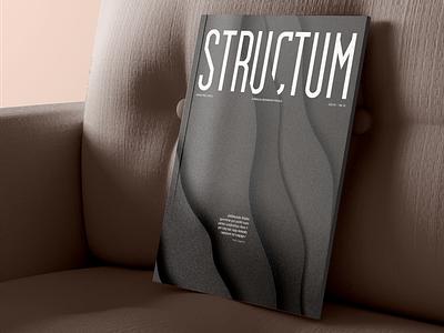Structum magazine cover | January 2021 magazine layout cover design cover magazine cover design magazine magazine design magazine cover clean minimal graphicdesign branding