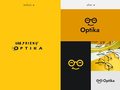 Prienų Optika logotype REBRAND logodesign logos logotype logomark logotype designer logo design graphicdesign minimal clean branding