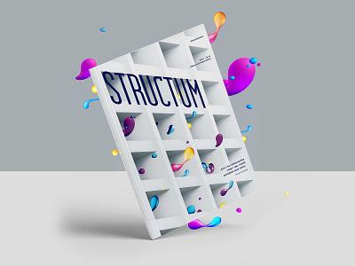 STRUCTUM February magazine cover magazine cover design colorful minimalistic design magazine magazine design cover design magazine cover clean minimal illustration branding graphicdesign
