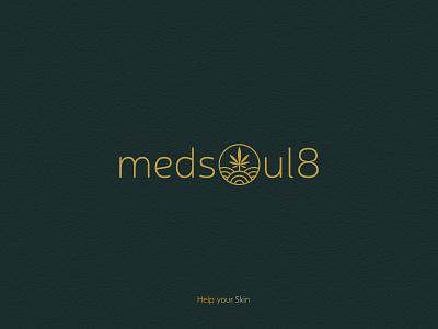 Medsoul8 logotype design | skincare logotype design logos logo logotype logotype designer logo design logodesign minimal clean branding