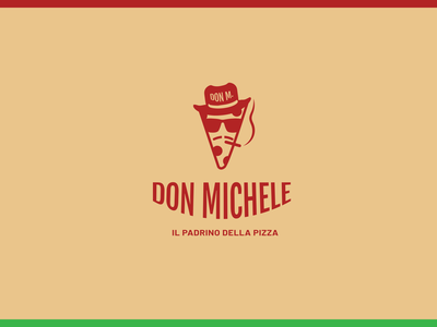 Don Michelle logotype (unused concept) | pizzeria | pizza logo logotype design logo logos logomark logotype designer logotype logo design logodesign minimal branding