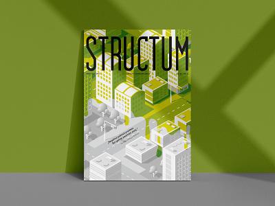 Structum magazine cover design | May 05 ISSUE vector clean illustration graphicdesign green colorful magazine layout cover design magazine cover design magazine cover magazine illustration magazine design magazine minimal branding