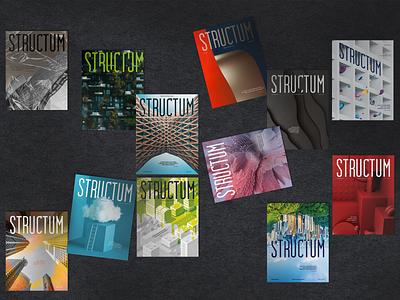 12 Structum covers 2020 - 2021 branding clean minimal print design print layout cover cover design magazine layout magazine design magazine covers magazine