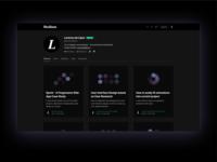 Medium Dark User Profile Redesign