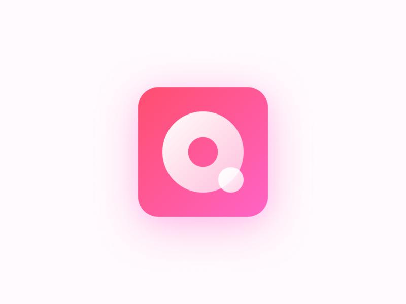 Queue It! Icon Design icon design icon gradient pink logo pink clean figma progressive web app application logo app product design user interface ui minimal design