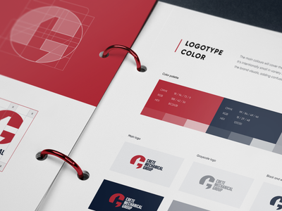 Industrial Tech Company Identity Book design elements style style guide rebranding visual identity graphic design logo design identity design illustration logo design identity branding design branding brand identity brand design brandbook brand