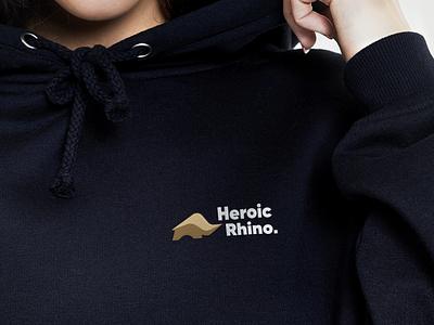Heroic Rhino style identity design graphic design visual identity logo design rhino animal logo design branding design brand branding brand identity brandbook identity brand design