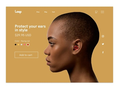 Single Product Page UI | Loop Earplugs