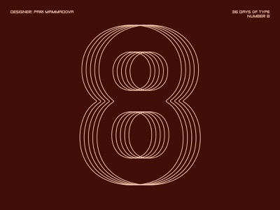 36 Days of Type — Number 8 daily design challenge typedesign 36days-8 typography type 36daysoftype07 36daysoftype