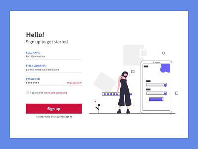 Daily UI 001 | Sign Up Page userinterface concept website webdesign 001 uiux web uxdesign uidesign ux ui daily illustration dailyuichallenge design challenge signuppage signup dailyui 001