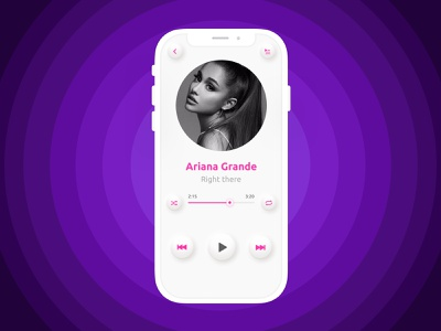 Daily UI 009 | Music Player ui neumorphicapp player app userinterface ux dailyuiux uiux rightthere neumorphism neumorphic arianagrande music musicapp musicplayer 009 ui009 dailyui009 dailyui dailyuichallenge
