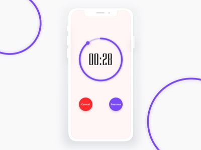 Daily UI 014 | Countdown Timer challenge userinterface mobileappdesign countdowntimerdesign time timer countdowntimer mobileapp app resume cancel dailyuiux ux uiux ui014 014 dailyui014 ui dailyui dailyuichallenge