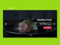 Dietello Website UI/UX