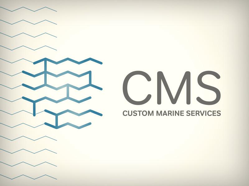 CMS logo (proposition) logo slovenia identity blue marine cms sea