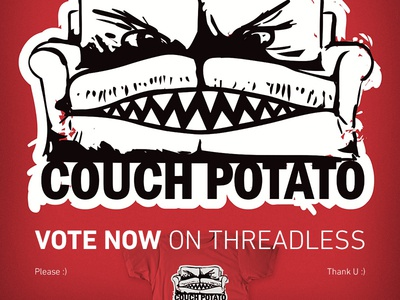 Couch Potato up for VOTING on Threadless!