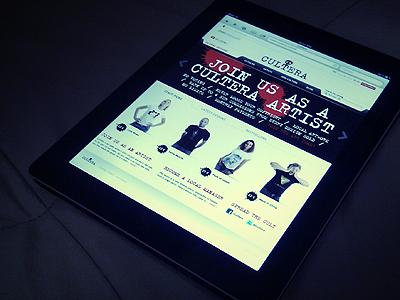 Cultera.com on the iPad