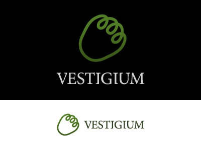 Vestigium (final proposal) logo woods animal track