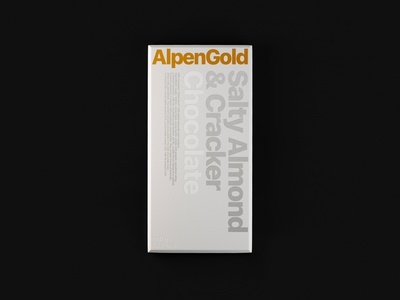 Alpen Gold / Wrapper Redesign / Weekly Warm-Up identity branding packaging wrapper dribbbleweeklywarmup chocolate packaging chocolate