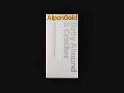 Alpen Gold / Wrapper Redesign / Weekly Warm-Up identity branding packaging wrapper dribbbleweeklywarmup chocolate packaging chocolate