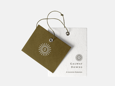 Galway Downs Tag stationery classic star label paper texture earthy minimalist collateral print tag brand identity branding