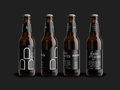 Misión Craft Beer authentic classic rustic bottle mexican beer logo label label design brand identity product packaging craft beer branding minimalist